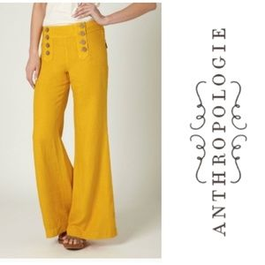 Anthropologie Elevenses Sailor Wide Leg Pants